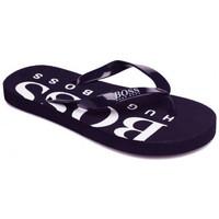 Chaussures Enfant Tongs BOSS Tong junior Hugo  noir et blanche  noir J29176 09B Noir