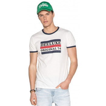 Vêtements Homme T-shirts manches courtes Deeluxe Tee shirt homme RECORD Blanc