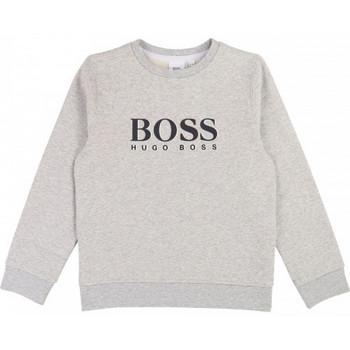 Vêtements Enfant Sweats BOSS Sweat junior Hugo  col gris clair J25E17 Gris