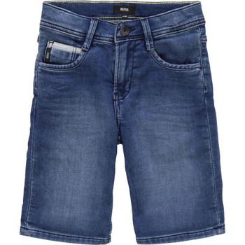 Vêtements Enfant Shorts / Bermudas BOSS Short junior hugo  en jeans bleu Bleu