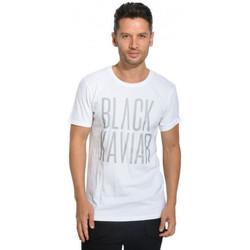 Vêtements Homme T-shirts manches courtes Black Kaviar Tee-shirt homme GASIC noir/blanc Blanc