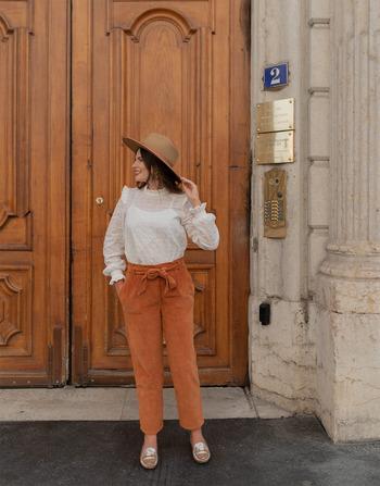 Vêtements Femme Pantalons 5 poches Céleste MARRONNIER Camel