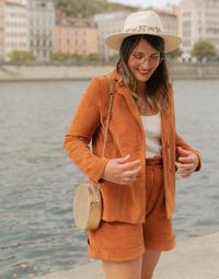 Vêtements Femme Vestes / Blazers Céleste SASSAFRAS Camel
