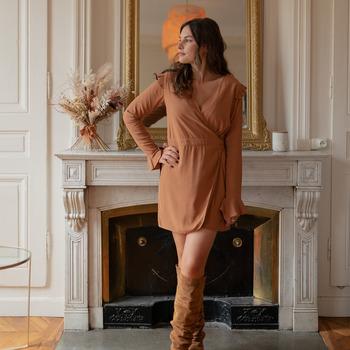 Vêtements Femme Combinaisons / Salopettes Céleste NOYER Camel