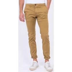 Vêtements Chinos / Carrots Ritchie Pantalon chino coupe ajustée VAIRE Beige