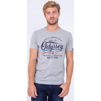 Vêtements T-shirts manches courtes Ritchie T shirt col rond pur coton JOUFAX Gris