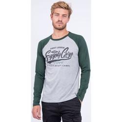 Vêtements T-shirts manches longues Ritchie T shirt col rond pur coton JANDAT Vert