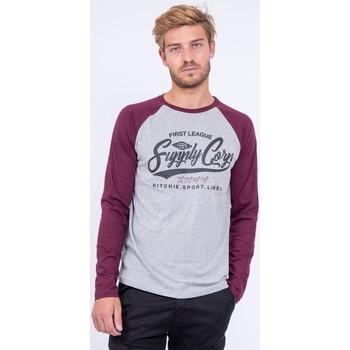 Vêtements T-shirts manches longues Ritchie T shirt col rond pur coton JANDAT Violet