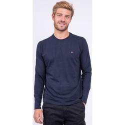 Vêtements T-shirts manches longues Ritchie T shirt col rond pur coton JARYZO Bleu marine