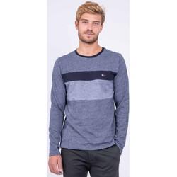 Vêtements T-shirts manches longues Ritchie T shirt col rond pur coton JUPATA Bleu marine