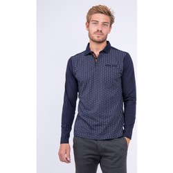 Vêtements Polos manches longues Ritchie Polo  pur coton PATROL Bleu marine