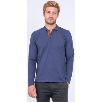 Vêtements Homme Polos manches longues Ritchie Polo  pur coton PONDOR Noir