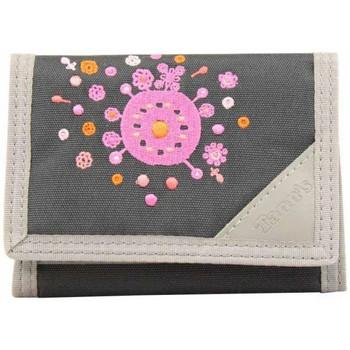 Sacs Homme Portefeuilles Tann's Petit portefeuille en toile  / Gris déco brodée fleurs Multicolor