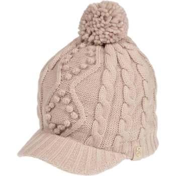 Accessoires textile Femme Bonnets Isotoner Casquette point crochet bobbles travaillés Café Latte