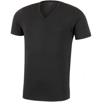 Vêtements Homme T-shirts manches courtes Impetus T-shirt Col V Homme Microfibre THERMO Noir Noir