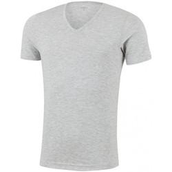 Vêtements Homme T-shirts manches courtes Impetus T-shirt Col V Homme Microfibre THERMO Gris chiné Gris
