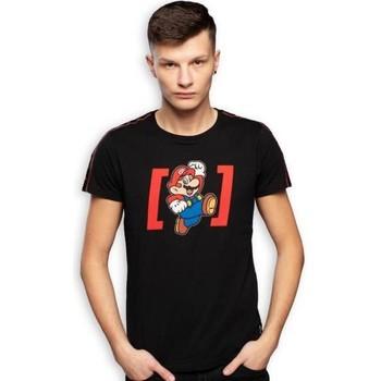 Vêtements Homme T-shirts manches courtes Super Mario T-shirt Col rond Homme Coton MAR2 Noir CAPSLAB Noir