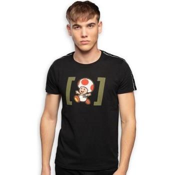 Vêtements Homme T-shirts manches courtes Super Mario T-shirt Col rond Homme Coton TOD2 Noir CAPSLAB Noir