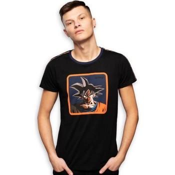 Vêtements Homme T-shirts manches courtes Dragonball Z DRAGON BALL Z T-shirt Col rond Homme Coton GOK2 Noir CAPSLAB Noir