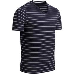Vêtements Homme T-shirts manches courtes Impetus T-shirt Col V Homme Coton bio ORGANIC Marine Gris Bleu