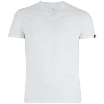 Vêtements Homme Polos manches longues Eminence T-shirt Col V Homme Coton FAIT EN FRANCE Blanc Blanc