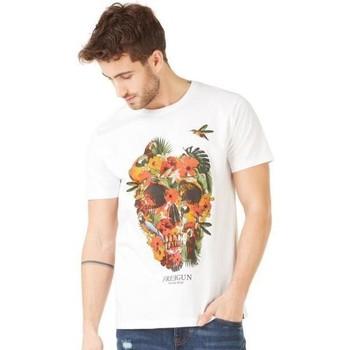 Vêtements Homme T-shirts manches courtes Freegun T-shirt Col rond Homme Coton TSCSKU Blanc Blanc