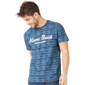 Vêtements Homme T-shirts manches courtes Freegun T-shirt Col rond Homme Coton TSCAOP Bleu Bleu