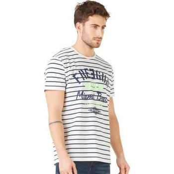 Vêtements Homme T-shirts manches courtes Freegun T-shirt Col rond Homme Coton TSCRAY Souris Bleu Gris