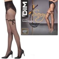 Sous-vêtements Femme Collants & bas DIM Collant Femme Semi Opaque NOEUD DENTELLE Noir 20D Noir