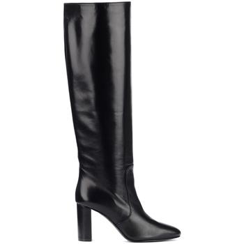 Chaussures Femme Bottes ville Via Roma 15 Bottes à talon en cuir noir Noir