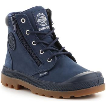 Chaussures Enfant Baskets montantes Palladium Pampa Hi CUFF WP K 53476-425-M granatowy