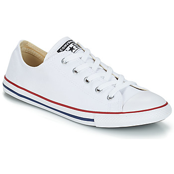 88b9b6b5e8f35 Chaussures Femme Baskets basses Converse CHUCK TAYLOR ALL STAR DAINTY OX  Blanc   Rouge
