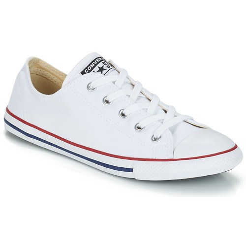 1256cc3350b7d Chaussures Femme Baskets basses Converse CHUCK TAYLOR ALL STAR DAINTY OX  Blanc   Rouge