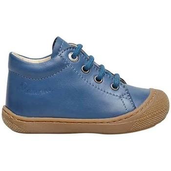 Chaussures Enfant Chaussons bébés Naturino COCOON-petites chaussures premiers pas en cuir nappa bleuclair