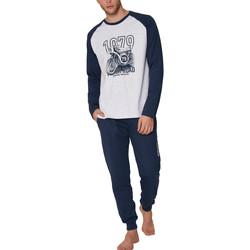 Vêtements Homme Pyjamas / Chemises de nuit Admas For Men Pyjama tenue d'intérieur pantalon et haut Road Antonio Miro Gris