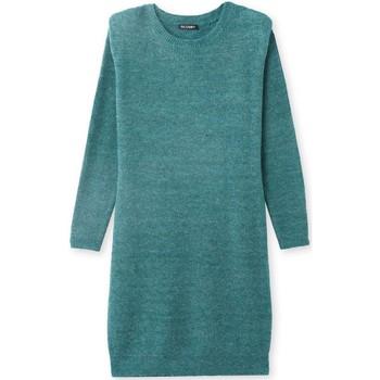 Vêtements Femme Robes Kocoon Robe-pull côtes anglaises vert