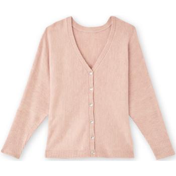 Vêtements Femme Gilets / Cardigans Balsamik Gilet boutonné devant ou dos chinrose