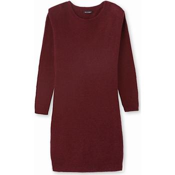Vêtements Femme Robes courtes Kocoon Robe-pull côtes anglaises bordeaux