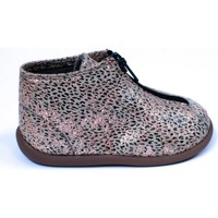 Chaussures Fille Bottines Pom d'Api Bottines cuir or
