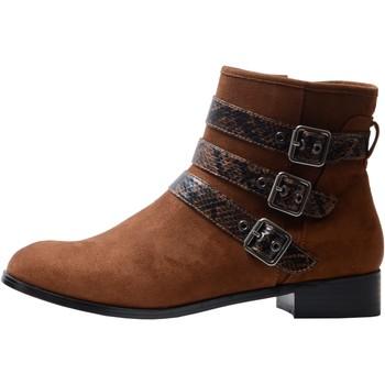 Chaussures Femme Bottines The Divine Factory Bottines QL4526 Terraotta