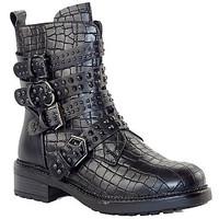 Chaussures Femme Bottines Sacha BOT49 NOIR CROCO