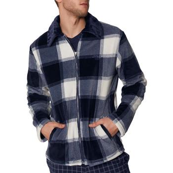Vêtements Homme Pyjamas / Chemises de nuit Admas For Men Veste d'intérieur Jacquard Antonio Miro Admas Bleu