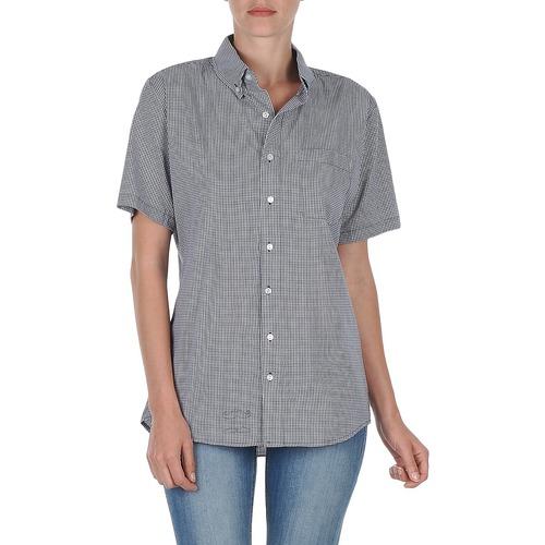 Vêtements Femme Chemises manches courtes American Apparel RSACP401S Blanc/Bleu
