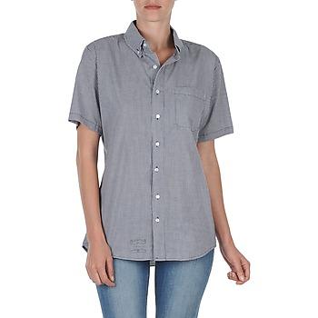 Chemises American Apparel RSACP401S Blanc/Bleu 350x350