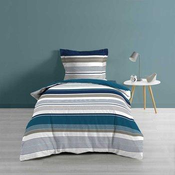 Maison & Déco Parures de lit Douceur D'intérieur Housse de couette 140x200 + taie Mariblue coton 57 fils Bleu
