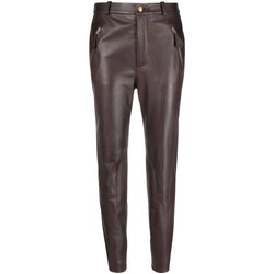 Vêtements Femme Chinos / Carrots Moschino Slim-Fit Biker Trousers Brown