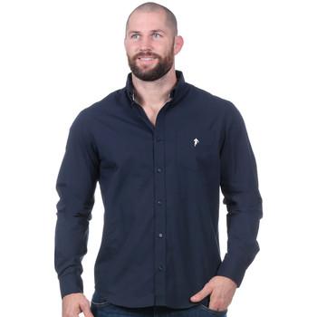 Vêtements Homme Chemises manches longues Ruckfield Chemise rugby essentiel bleu marine Bleu