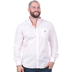 Vêtements Homme Chemises manches longues Ruckfield Chemise rugby essentiel rose Rose