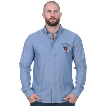 Vêtements Homme Chemises manches longues Ruckfield Chemise à manches longues French Rugby Club bleu clair Noir