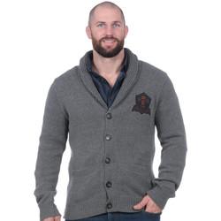 Vêtements Homme Gilets / Cardigans Ruckfield Cardigan Rugby Héritage gris clair Noir